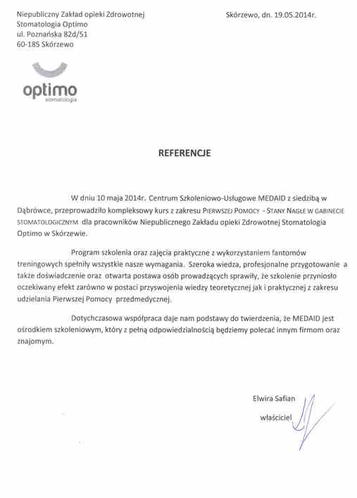Referencje Optimo
