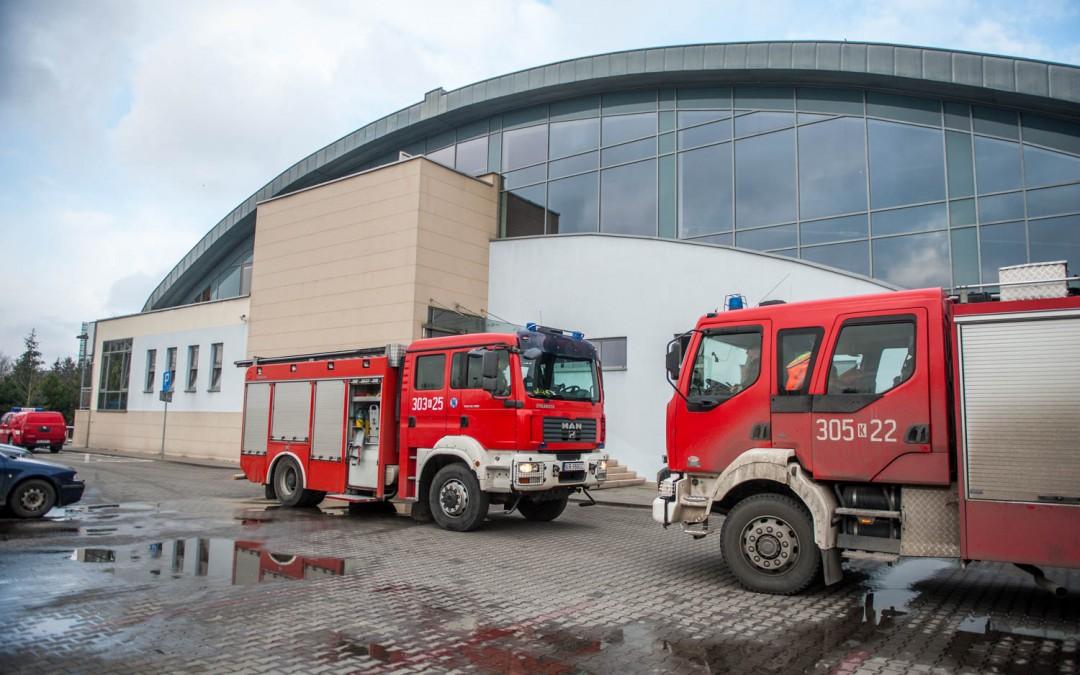 Pożar na AGH w Krakowie